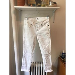 PAIGE White Jeans- Kylie Crop